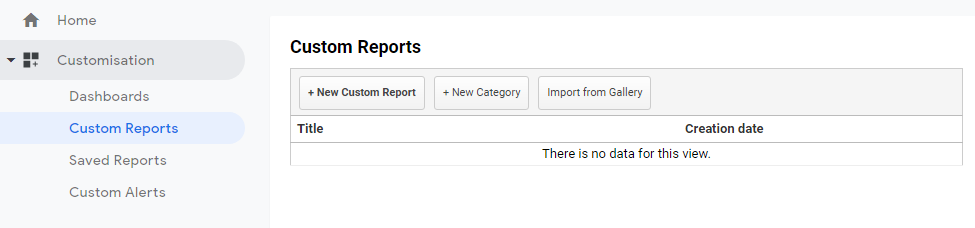 Step 1: go to custom reports and create a new report