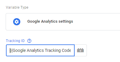 Variable Google Analytics Tracking code